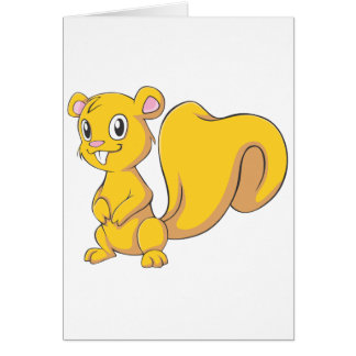 Happy Brown Squirrel Greeting Cards