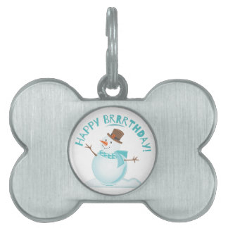 Happy Brrrthday Pet Tag