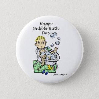 Happy Bubble Bath Day January 8 Button