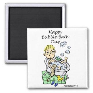 Happy Bubble Bath Day January 8 Fridge Magnets
