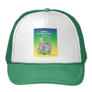Happy Bubble Bath Day January 8 Trucker Hat