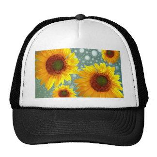 Happy Bubbly Sunflowers Trucker Hat