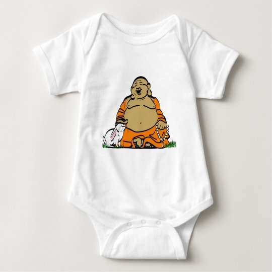 HAPPY BUDDHA BABY BODYSUIT