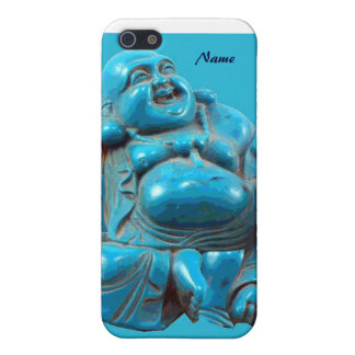 Happy Buddha Blue Carving Turquoise Buddhism Zen iPhone SE/5/5s Cover