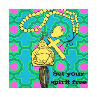 Happy Buddha Canvas Print