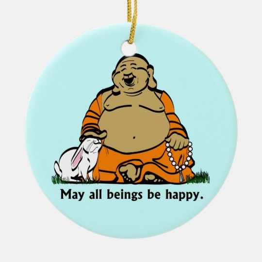 HAPPY BUDDHA CERAMIC ORNAMENT