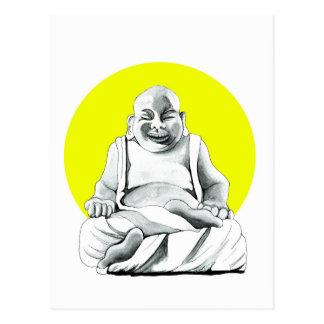 Happy Buddha Postcard