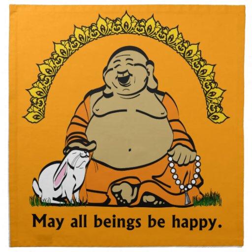 HAPPY BUDDHA PRINTED NAPKIN