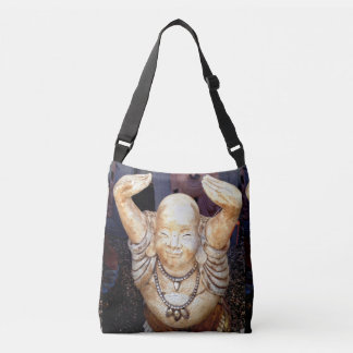 happy Buddha raised hands Crossbody Bag
