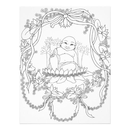 Happy Buddha with Lotus Flyer