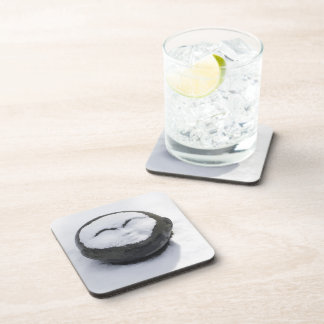 Happy Buddha With Snow Facial Beverage Coaster