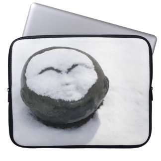 Happy Buddha With Snow Facial Computer Sleeve