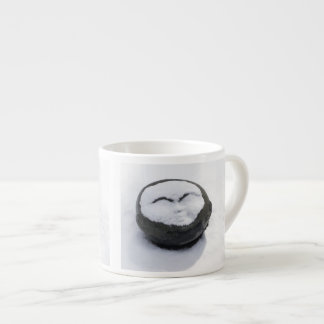 Happy Buddha With Snow Facial Espresso Cup