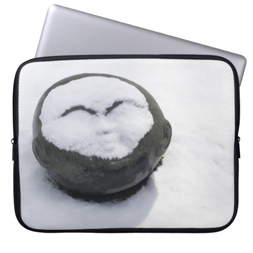 Happy Buddha With Snow Facial Laptop Computer Sleeves