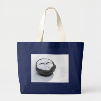 Happy Buddha With Snow Facial Large Tote Bag
