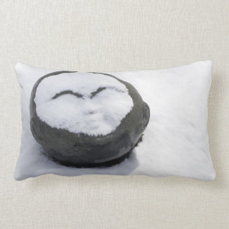 Happy Buddha With Snow Facial Lumbar Pillow