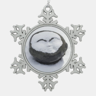 Happy Buddha With Snow Facial Ornament