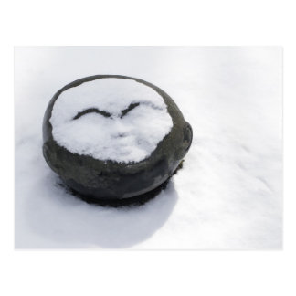Happy Buddha With Snow Facial Postcard