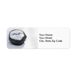 Happy Buddha With Snow Facial return address label