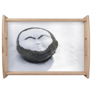 Happy Buddha With Snow Facial Serving Tray