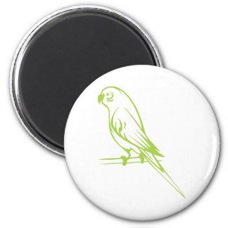 Happy Budgerigar Bird 2 Inch Round Magnet
