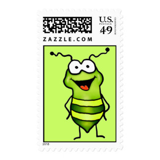 Happy Bug Postage Stamps