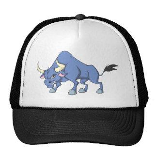 Happy Bull Cartoon Trucker Hat
