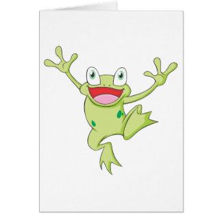 Happy Bullfrog Card