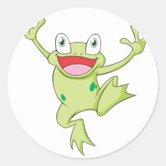 Happy Bullfrog Classic Round Sticker
