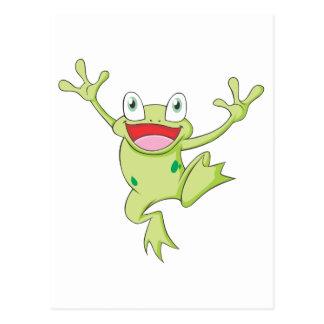 Happy Bullfrog Postcard