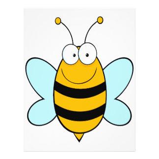 happy bumble bee goofy cartoon full color flyer