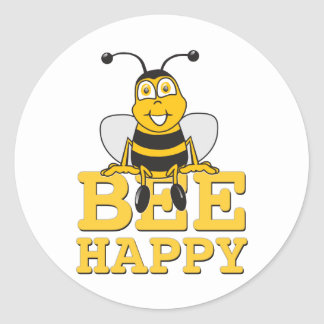 Happy Bumble Bee Stickers