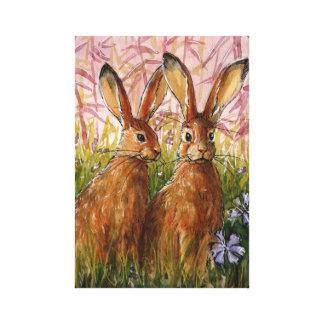 Happy Bunnies by Svetlana Ledneva-Schukina A072 Canvas Print