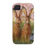 Happy Bunnies design by Schukina A072 Vibe iPhone 4 Cases