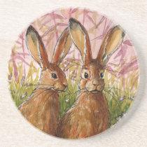 Happy Bunnies design by Schukina A072 Coaster