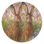 Happy Bunnies design by Schukina A072 Dinner Plate