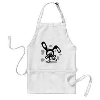 Happy Bunny(Black) Adult Apron