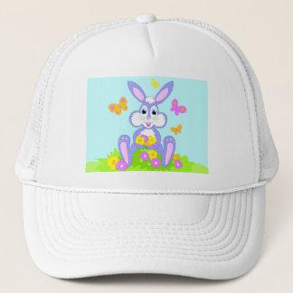 Happy Bunny Butterflies Flowers Hat