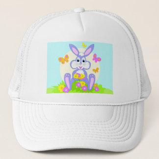 Happy Bunny Butterfly Flowers Trucker Hat