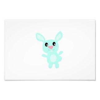 Happy bunny cartoon photo print