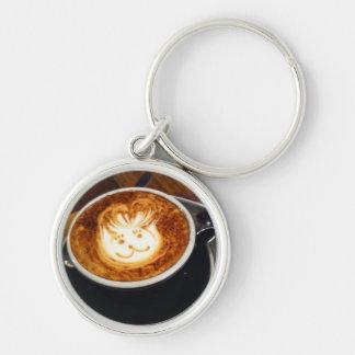 Happy Bunny coffee keychain