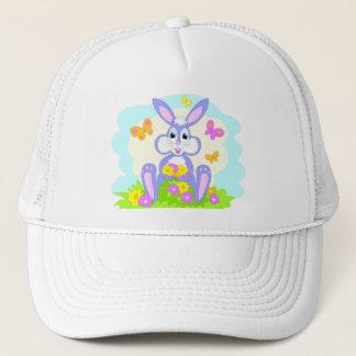 Happy Bunny Flowers Butterflies Trucker Hat