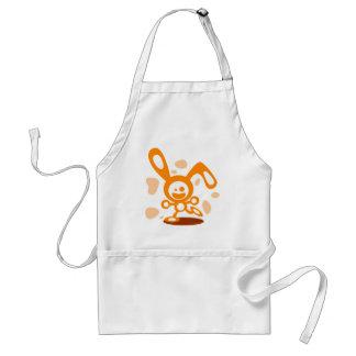 Happy Bunny(Orange) Adult Apron
