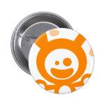 Happy Bunny(Orange) Buttons
