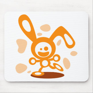 Happy Bunny(Orange) Mouse Pad