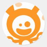 Happy Bunny(Orange) Round Sticker