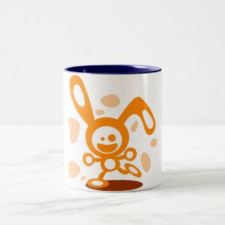 Happy Bunny(Orange) Two-Tone Coffee Mug