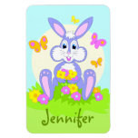 Happy Bunny Personalized Magnets Rectangle Magnet