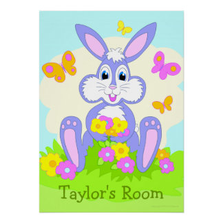 Happy Bunny Personalized Poster