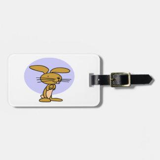 Happy Bunny Rabbit Bag Tag
